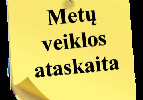 Direktorės Galinos Kozak metų veiklos ataskaita
